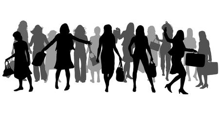 Vrouwen silhouetten.