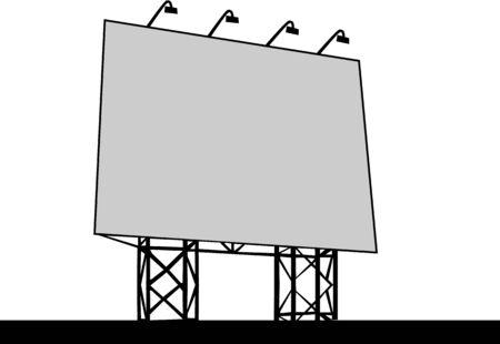 outdoor advertising: Billboard Outdoor Advertising Vector illustration