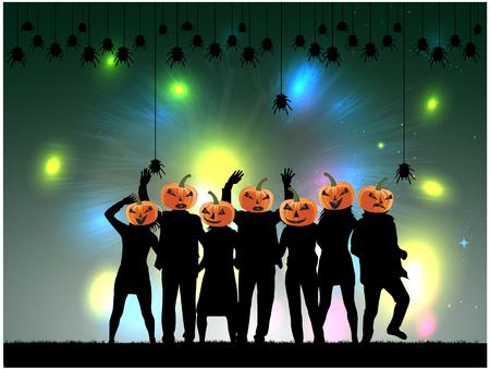 Halloween-Party Hintergrund. Standard-Bild - 64674636