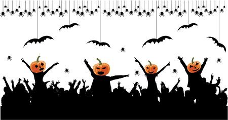 Halloween party background. Illustration