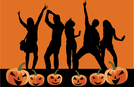 halloween party: Halloween party background. Illustration