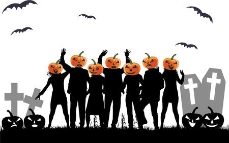 Halloween party background. Ilustracja