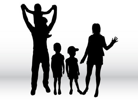 silhouettes: Family silhouettes .