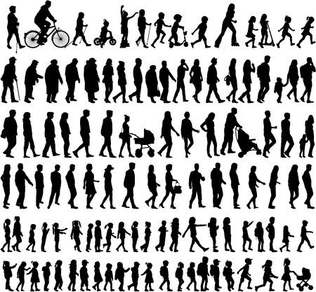 Grande collection de silhouettes concept. Vecteurs