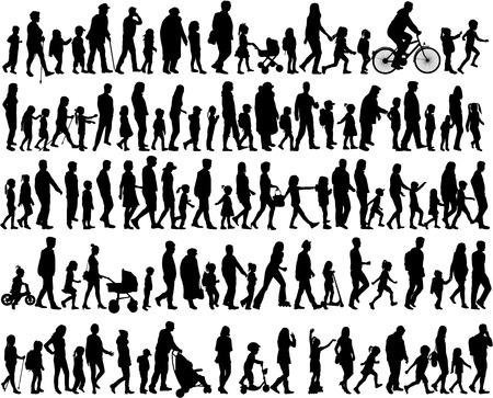 Grote verzameling van silhouetten concept.