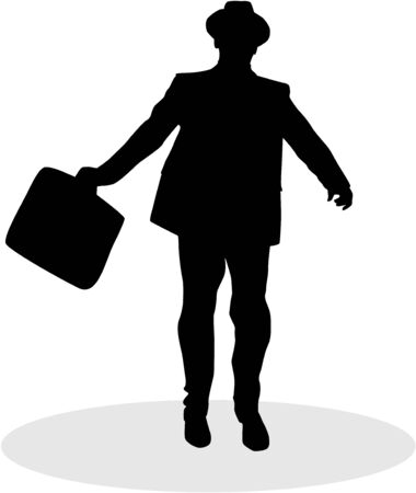 Silhouette elegant man, businessman. Icon conceptual.