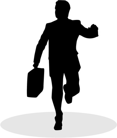 guy standing: Silhouette elegant man, businessman. Icon conceptual.