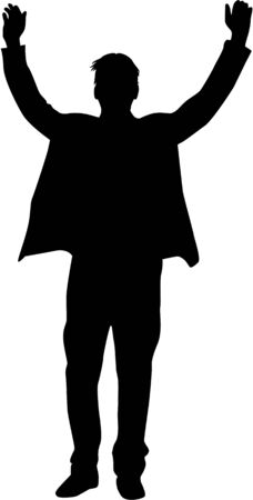 guy standing: Business people. Silhouettes conceptual.