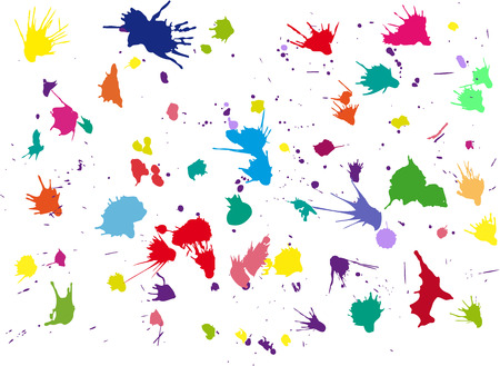 paiting: Vector blots background.
