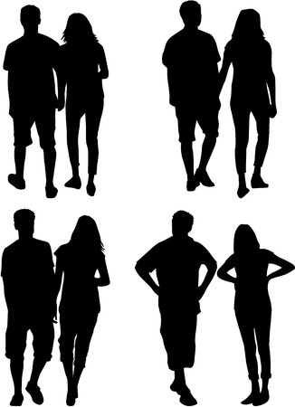 similar: People silhouettes - couples