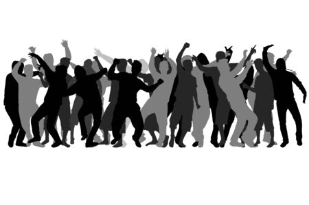 Bailando siluetas masculinas. Foto de archivo - 89095351