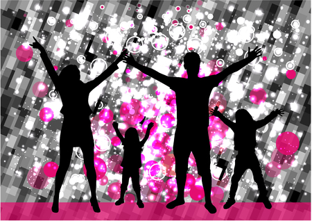 Family silhouettes . Abstract background. Stock fotó - 90357146