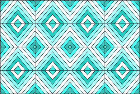 Colorful stained glass pattern design. Иллюстрация