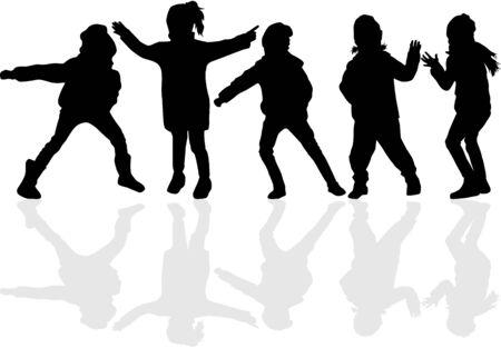 Sagome nere per bambini. Archivio Fotografico - 94536055