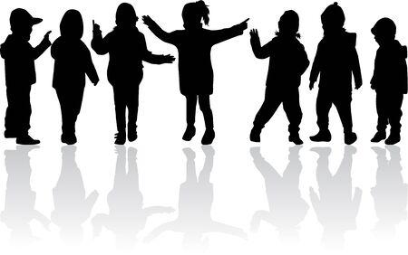 Sagome nere per bambini. Archivio Fotografico - 94536064