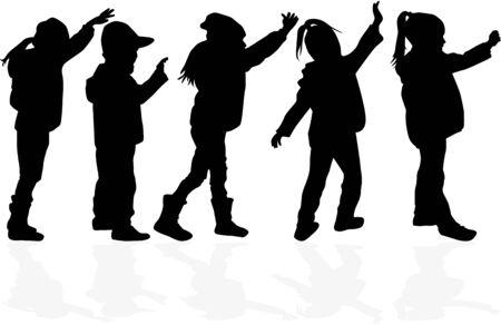 Sagome nere per bambini. Archivio Fotografico - 94536097