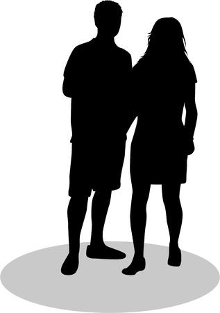 Couple of young people Illusztráció