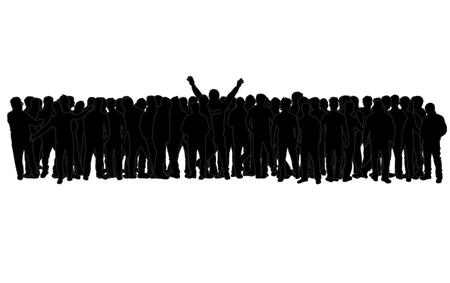 Black silhouette of a man. Archivio Fotografico - 125643437
