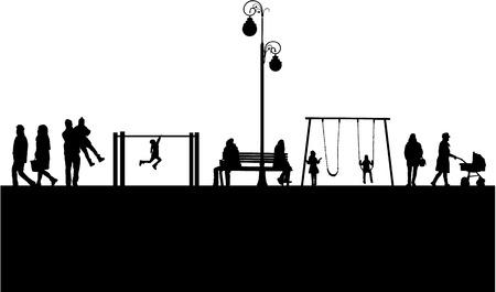 People silhouettes, urban background. Zdjęcie Seryjne - 125643456
