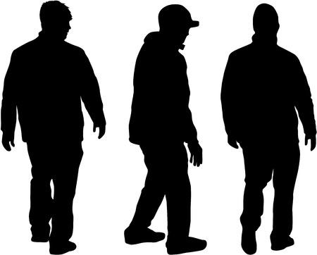 Silhouette of a man. Ilustracja