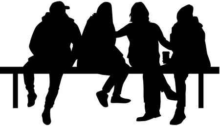 Group of people Ilustracja