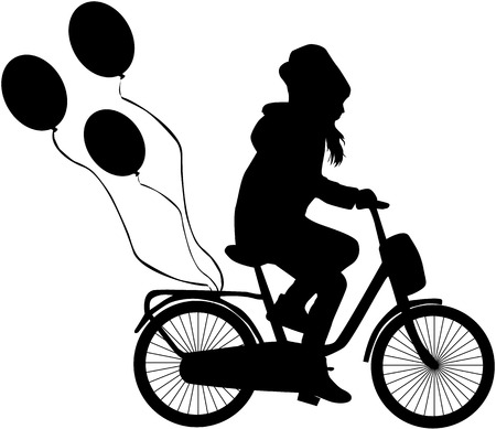 Child on a bicycle