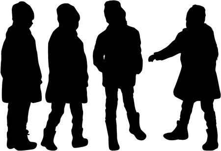 Children of silhouettes. Ilustração