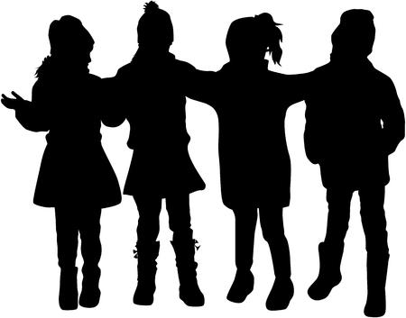 Children of silhouettes. Ilustrace