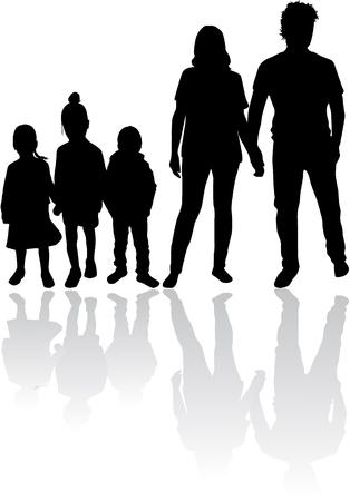 Vector silhouette of family. Zdjęcie Seryjne - 125643509