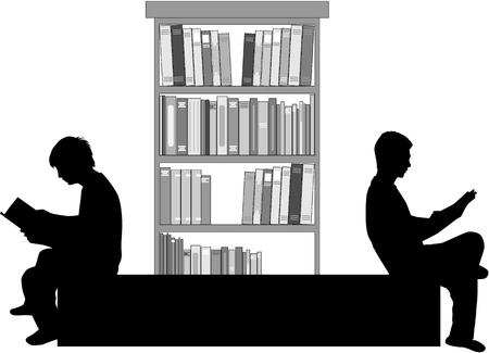 Silhouette of a man with a book. Zdjęcie Seryjne - 124262444