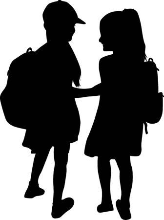 Niños camino a la escuela.