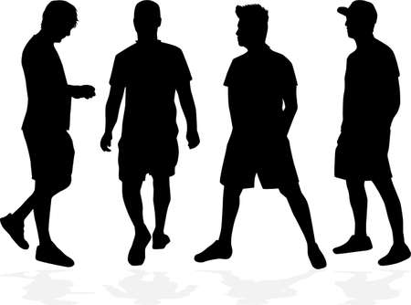 Silhouettes of a man, concept illustration