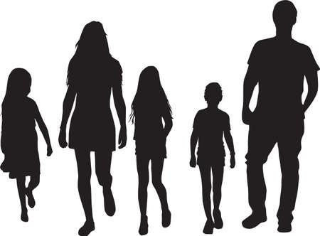Family of silhouettes. Conceptual work.