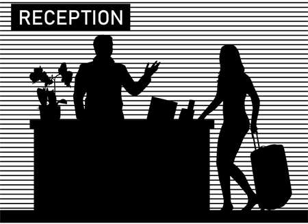 Hotel receptionist job vector illustration