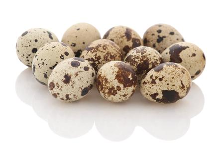 quail eggs isolate, close-up Archivio Fotografico