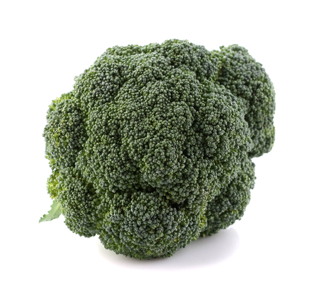 broccoli cabbage on white background, isolate, closeup