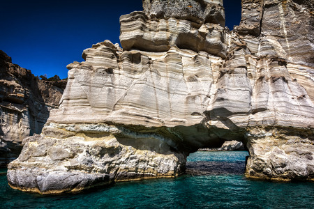 cyclades: Kleftiko Milos island Cyclades Greece Stock Photo