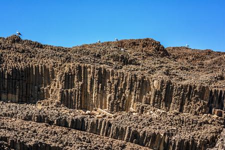 kyklades: Glaronisia rocky islets, Milos island, Cyclades, Greece Stock Photo