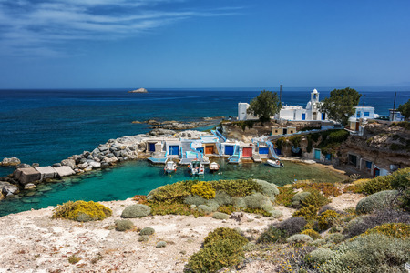 island: Milos island - Cyclades, traditional fishing village Stock Photo