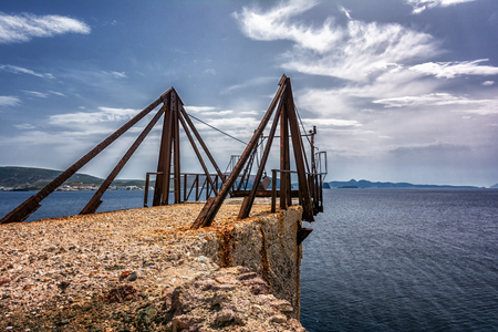 kyklades: Old factory on Kimolos island, Cyclades, Greece