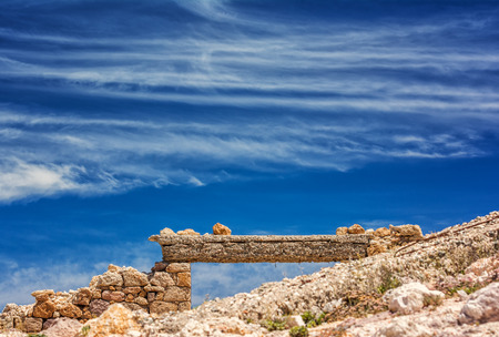 old factory: Old factory on Milos island, Cyclades, Greece Stock Photo