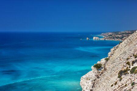birthplace: Petra tou Romiou, Aphrodites birthplace in Paphos, Cyprus Stock Photo