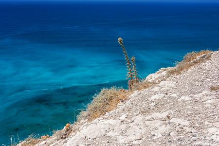 tou: Petra tou Romiou, Aphrodites birthplace in Paphos, Cyprus Stock Photo