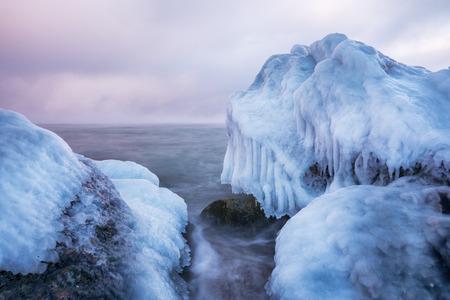 odessa: winter black sea -  Odessa, Ukraine