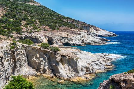 mediterranean culture: Beautiful Milos Seascape, Milos, Greece Stock Photo