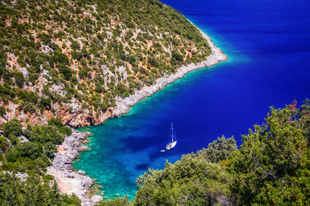 Another side of Antisamos beach, Kefalonia Stock Photo