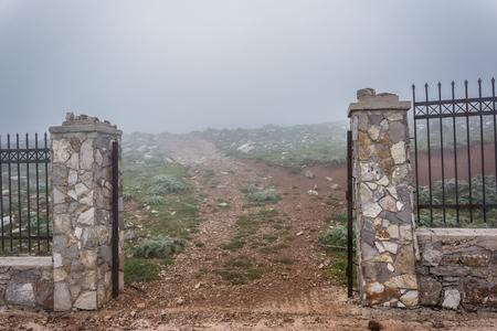 The temple of Zeus on Ataviros mount, Rhodes island, Greece