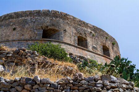 Spinalonga island in Elounda bay of Crete island in Greece.