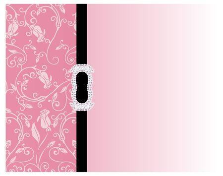Illustration of decorative floral pink background
