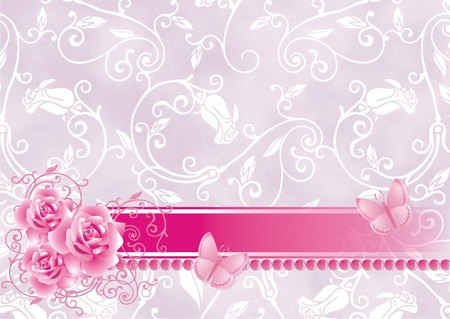Background with roses photo